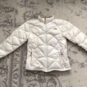 North Face White Aconcagua Jacket
